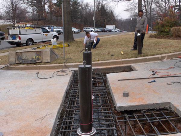 Hydraulic Bollards Hercules Fence Maryland Virginia Dc